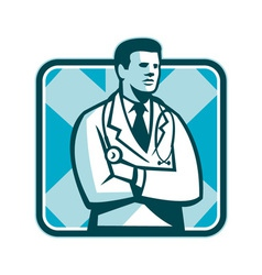 Medical doctor physician stethoscope standing vector