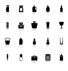 Design package icons with reflect on white vector