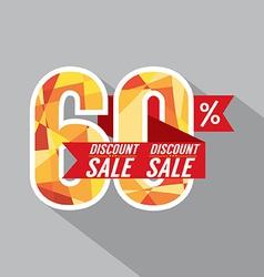 Discount 60 percent off vector