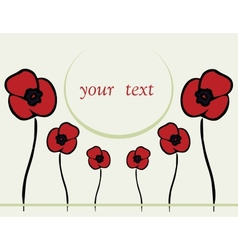 Spring or summer backgrounds with poppy vector