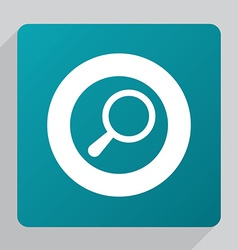 Flat search icon vector