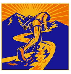Marathon road runner jogger fitness vector