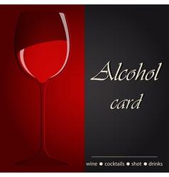 Template of an alcohol menu vector