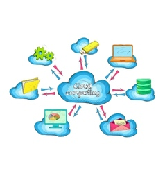 Cloud network technology service concept vector