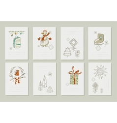 Hand drawn collection of romantic invitations to vector