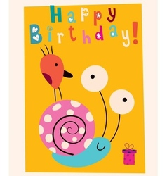 Happy birthday card 9 vector
