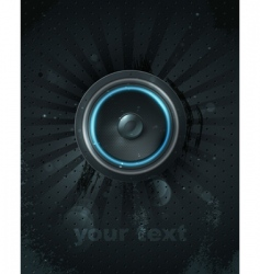 musical speaker icon vector