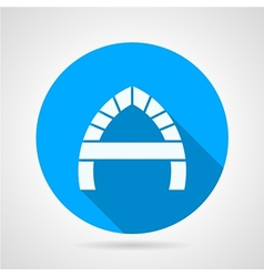 Round flat icon for arch vector