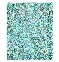 Ocean doodles vector
