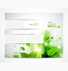 Brochure with branch vector