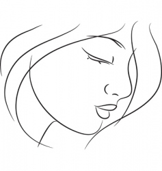 Girl sketch vector