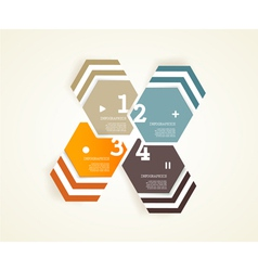 Four colored papers with place vector