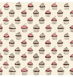 Cupcake seamless vector
