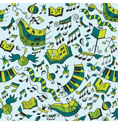 Musical seamless pattern with doodles design eleme vector