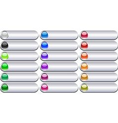 Metal buttons vector