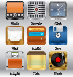 Realistic icons vector