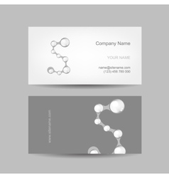 Business card design with letter s vector