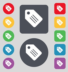 Special offer label icon sign a set of 12 colored vector
