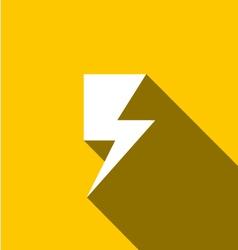 Thunder icon vector