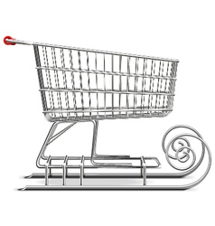 Supermarket sled vector