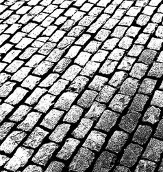 Old brick walkway vector