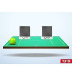 Concept participants playing tennis vector