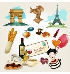 Paris touristic set vector