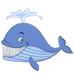 Blue whale cartoon vector
