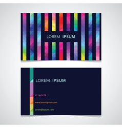 Business card template from a strip from color vector
