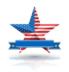 Big star american flag on white background vector