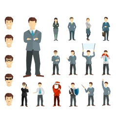 Many working people in various poses vector