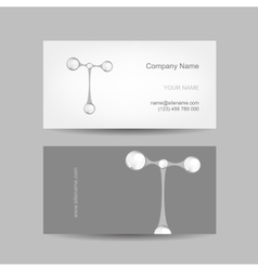 Business card design with letter t vector