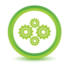Green mechanism icon vector