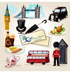 London touristic set vector