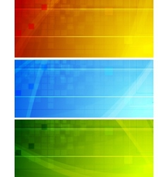Vibrant stylish banners vector