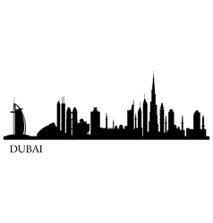 Dubai city silhouette skyline vector