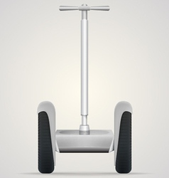 Segway a front view vector
