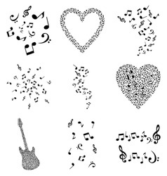Musical design elements vector