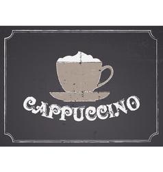 Chalkboard cappuccino design vector