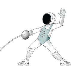 Fencing player vector