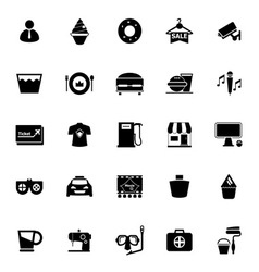 Franchisee business icons on white background vector
