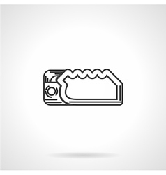 Climbing device flat line icon vector