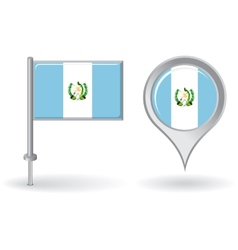Guatemalan pin icon and map pointer flag vector