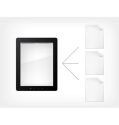 Document concept tablet pc vector