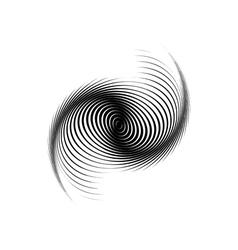 Design monochrome swirl motion background vector