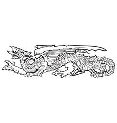 Heraldic dragon no13 vector