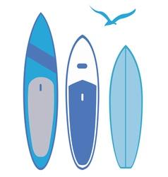 Surf boards vector
