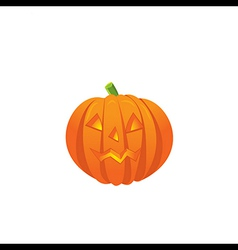 Pumpkin with an evil expression on his face vector