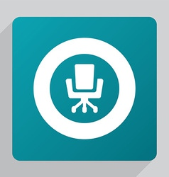 Flat office chair icon vector