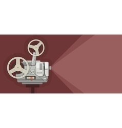 Retro movie projector for vector
